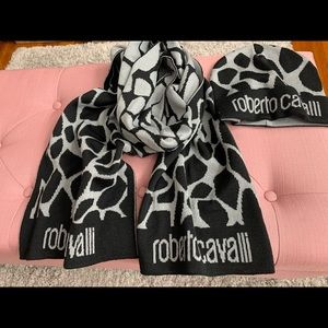 Authentic Roberto Cavalli Scarf set